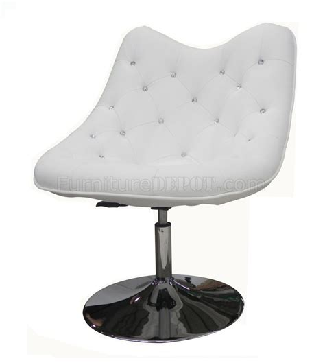 white swivel chairs swivel chair in white leatherette by whiteline imports