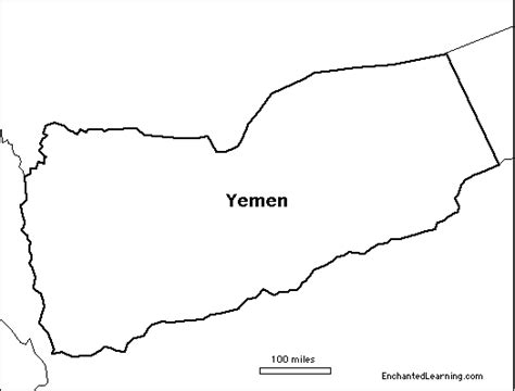 Printable Map Of Yemen | blank map of yemen