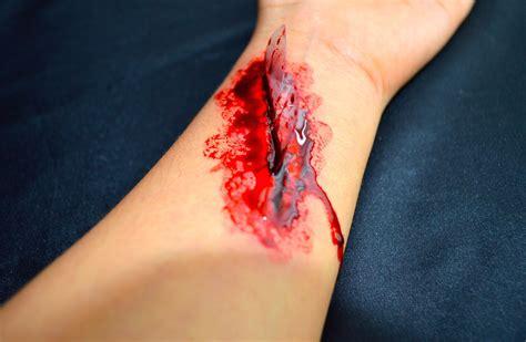 imagenes de heridas asquerosas herida falsa con vidrios halloween youtube