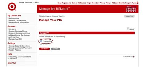 What Is The Pin Number On A Target Gift Card - how to change your redcard debit card pin number