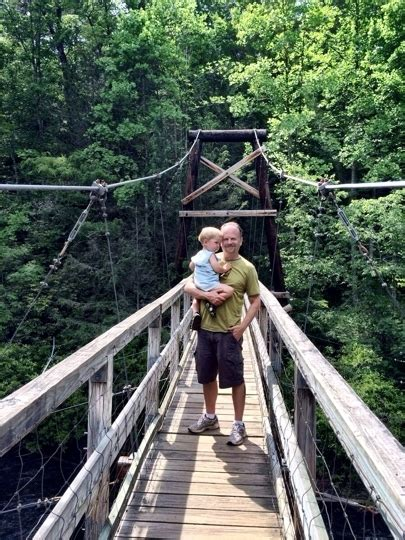 blue ridge swinging bridge toccoa river swinging bridge blue ridge ga kid