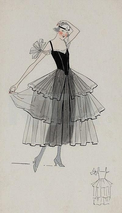 Studio C Sketches by Four Lucile Studio Sketches Circa 1915 6
