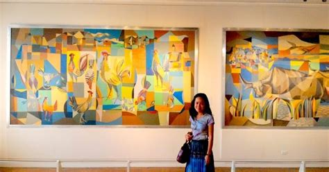 biography of filipino artist woman in digital manansala paintings at the national museum