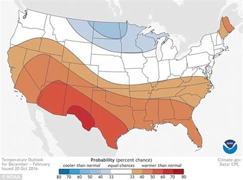 us temperature map february la expected to drive us weather this winter daily