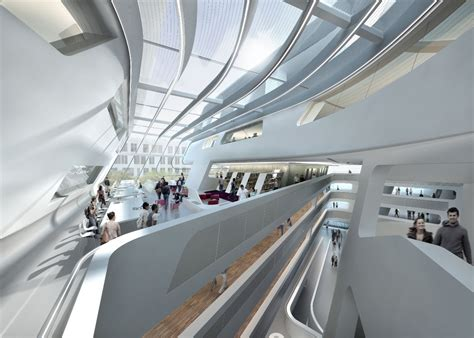 zaha hadid interior zaha hadid s library and learning center buildipedia