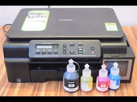 Printer T500w dcp t500w printer unboxing and on