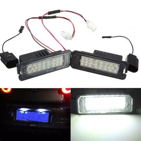 Led Plat Nomer 24 led white license number plate light canbus for vw