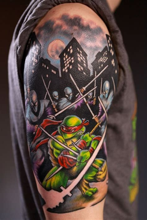 ninja turtles tattoo 19 cool mutant turtle tattoos tmnt