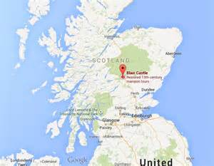 where is blair castle on map scotland world easy guides