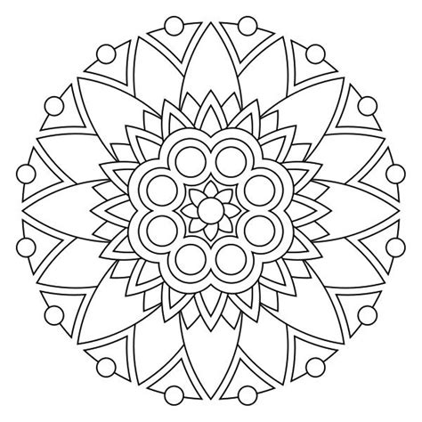 free healing mandala coloring pages
