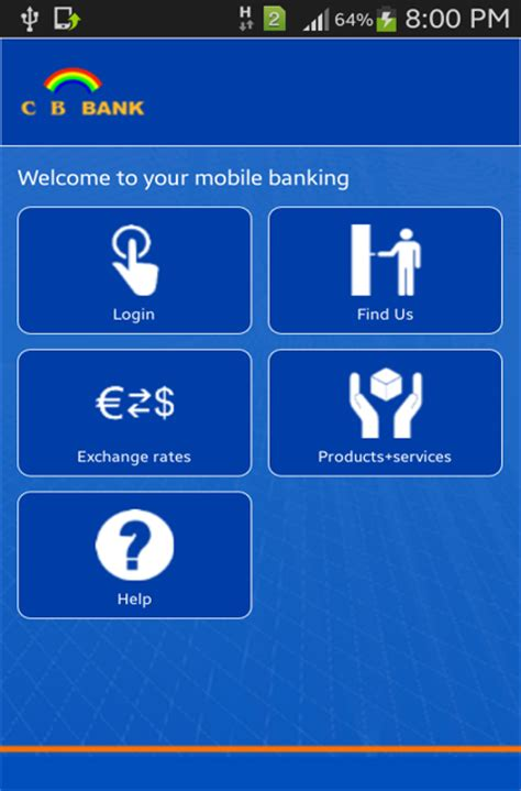cb bank cb bank mobile banking services
