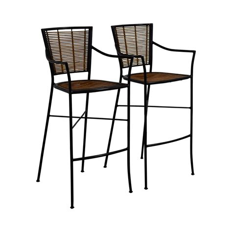 Bamboo Bar Stools Chairs by 90 Bamboo And Metal Bar Stools Chairs