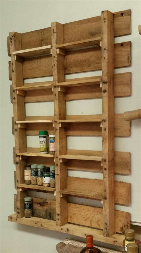 Diy Pallet Wood Spice Rack Pallets Designs Spice Rack From Upcycled Pallet Crafty Ideas Pallet Diy Spice Rack Spice Rack Plans