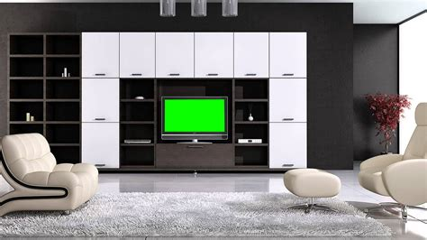 livingroom tv tv in living room in green screen free stock footage