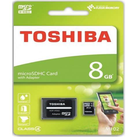 Toshiba Micro Sd 8gb White mem micro sd 8gb toshiba cl4 adapt sd