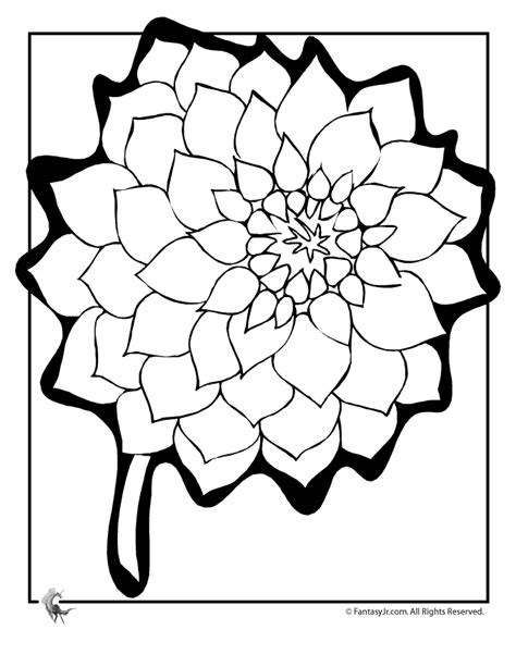 spring flowers coloring page az coloring pages