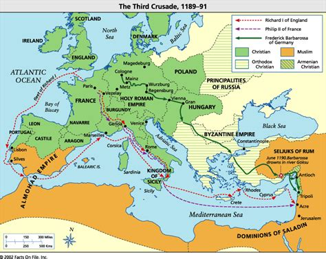 the third crusade map third crusades map