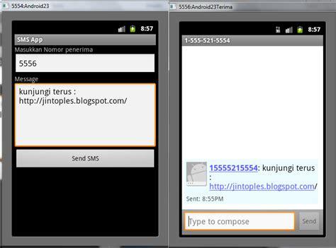membuat virus sms untuk android membuat aplikasi android kirim sms jin toples programming