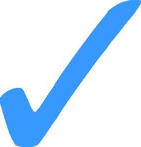 Blue Check Mark   Png Clip Art at Clker.com   vector clip