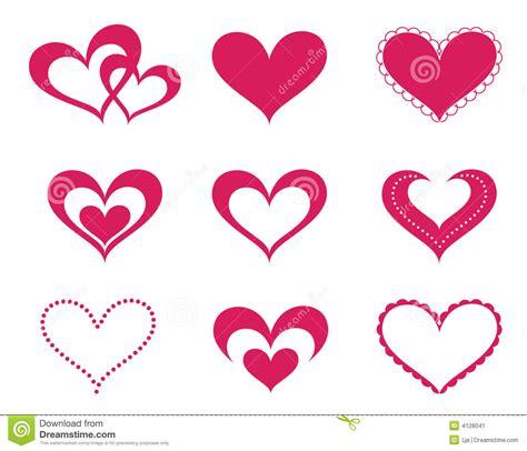 imagenes medicas de amor corazones del amor fijados ilustraci 243 n del vector