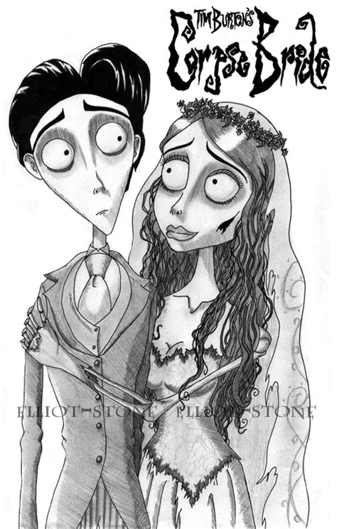 corpse bride free colouring pages