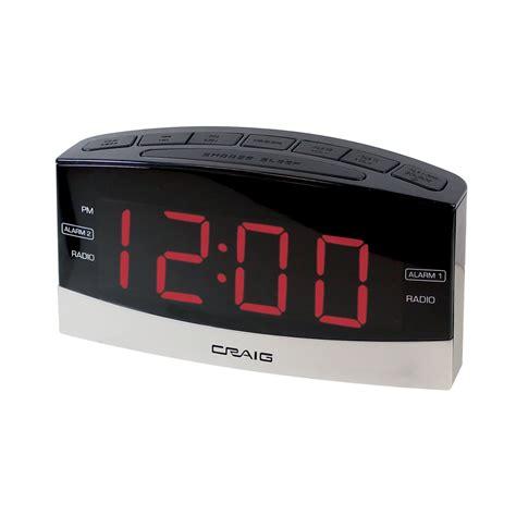 craig 97096525m electronics digital clock radio alarm clock black silver