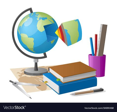 geography images geography lesson related elements globe vector image