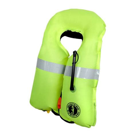 mustang hydrostatic pfd mustang high visibility hydrostatic pfd raft and