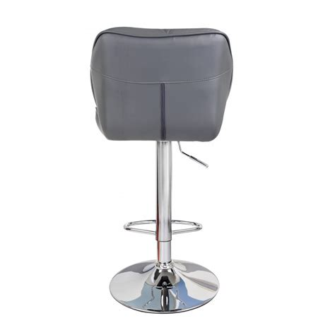 Grey Leather Swivel Bar Stools by Grey Modern Uranus Padded Swivel Faux Leather Breakfast