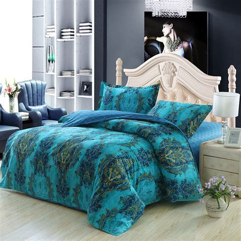 blue patterned bedspread extraordinary blue paisley bedding for ordinary bedroom