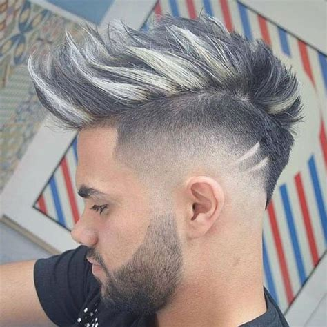 stylish spiked taper haircuts for men step by step mohawk fade