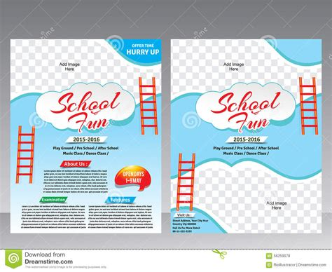 school brochure design templates school brochure design templates 3 best agenda templates