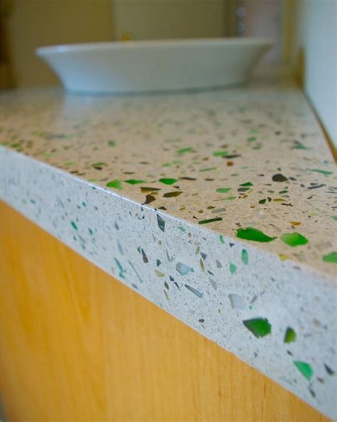 Diy Recycled Glass Concrete Countertops by Recycled Glass In Concrete Countertops A To Z Notes