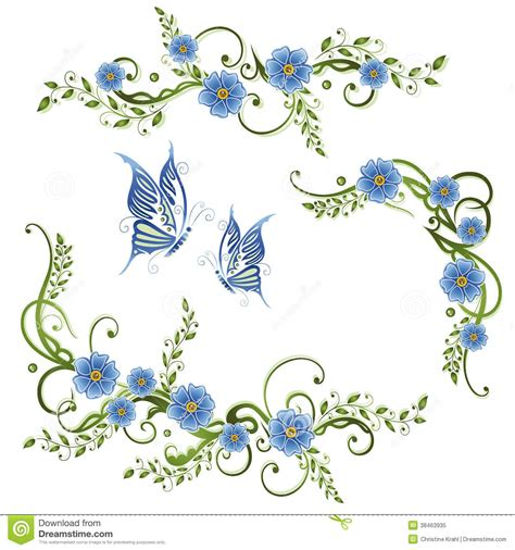 colorful flower tattoos designs royalty free images no flowers forget me not stock vector illustration of