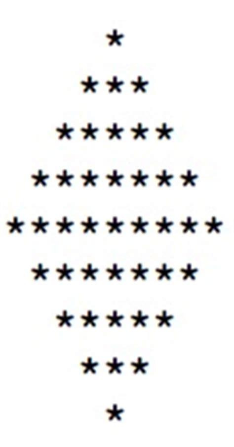 diamond pattern in c using for loop creating star or diamond pattern using nested for loop