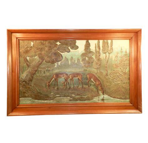 gueret  large art deco painting modernism