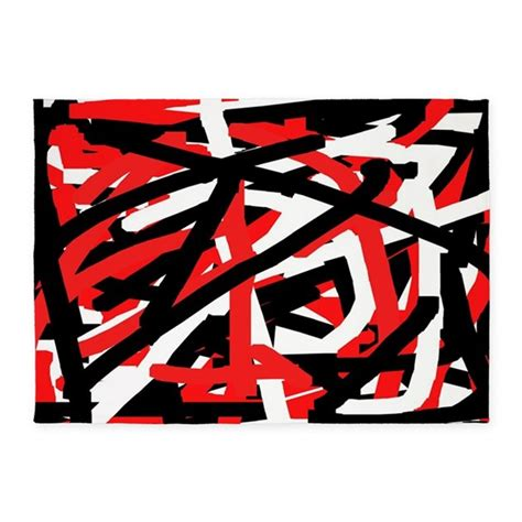 Graffiti Rug by Black And White Graffiti 5 X7 Area Rug By Khoncepts2