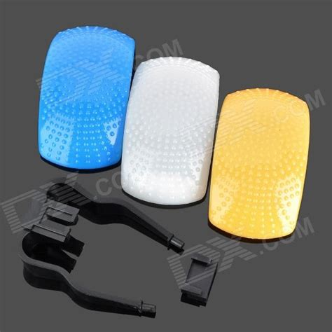 Gratis Ongkir Flash Diffuser Pop Up 3 Color White Blue Orange 3 color pop up flash diffuser kit blue white yellow free shipping dealextreme
