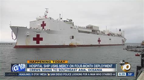 usns comfort deployment hospital ship usns mercy leaves on 4 month deployment