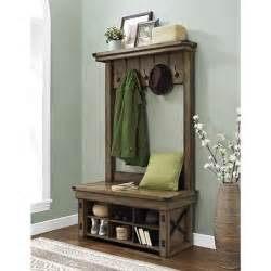 altra wildwood entryway tree with bench storage