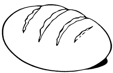 Bread Coloring Page Pictures To Color Eat sketch template