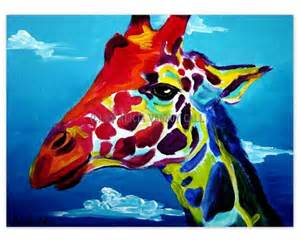colorful giraffe painting unavailable listing on etsy