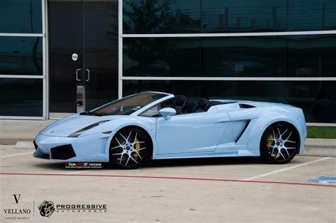 Baby Lamborghini Baby Blue Widebody Lamborghini Gallardo Spyder By