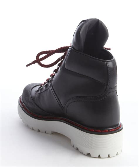 prada hiking boots prada sport black and leather lace up hiking boots in