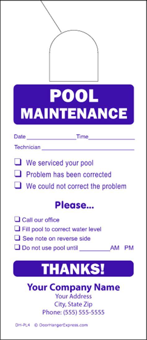 maintenance door hanger template choice image templates