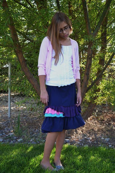 skirt pre teen my craft closet wear it wed skirt for a preteen