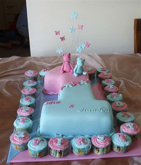 twin birthday cakes ideas  pinterest
