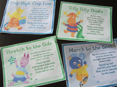 printable abc exercise cards pinning with purpose kid exercise action cards