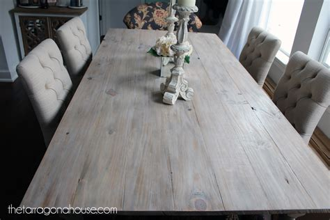 ana white whitewashed farmhouse table diy projects