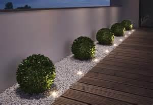 terrassen spots gartenleuchten mit led quot gardenspot mini quot osram bild